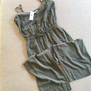 Splendid in Moss Green hatchback jumpsuit  moss